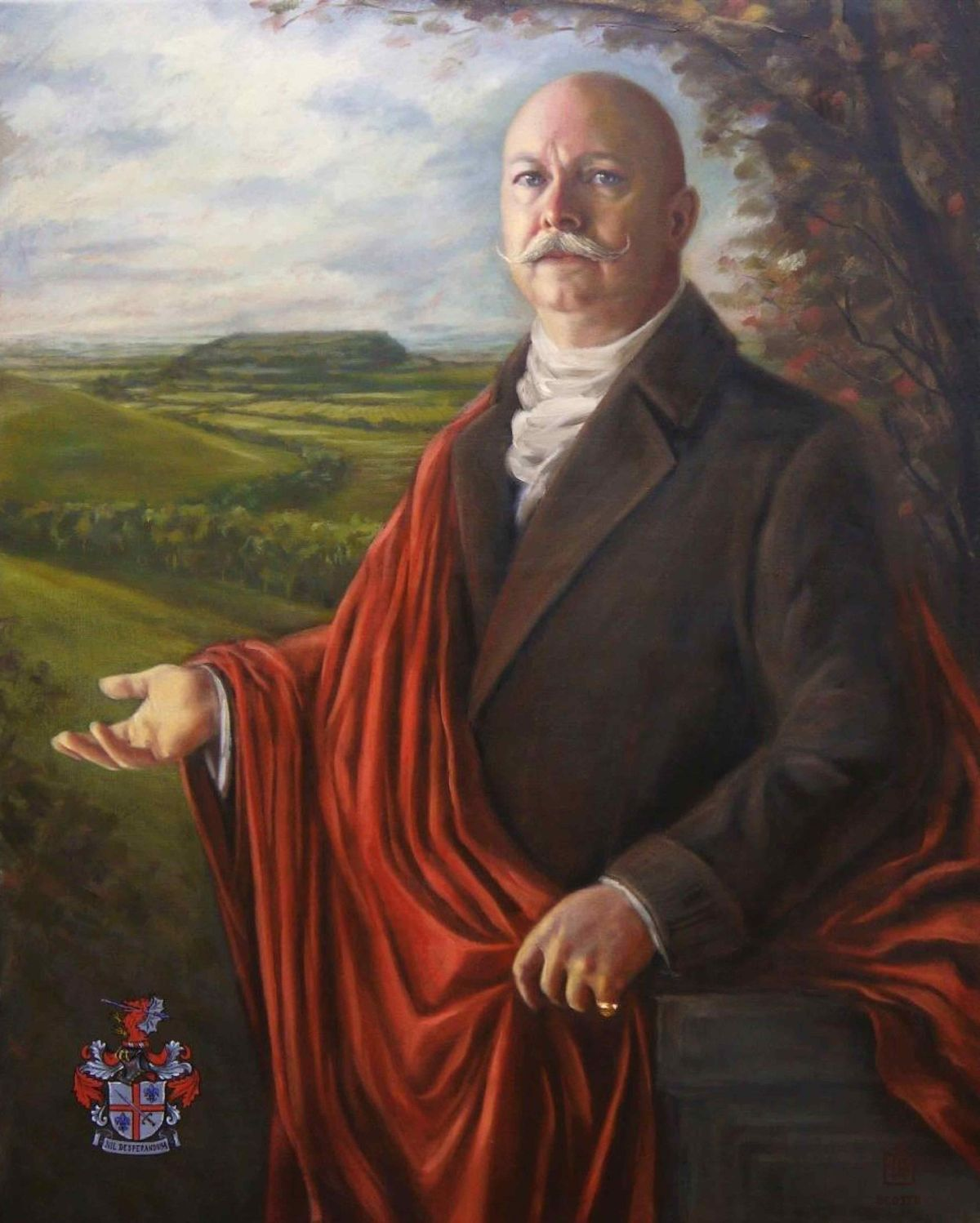6th BARON of NORTH CADBURY, oil on linen 2016 by MAX SCOTTO ©The Baron de Newmarch Collection