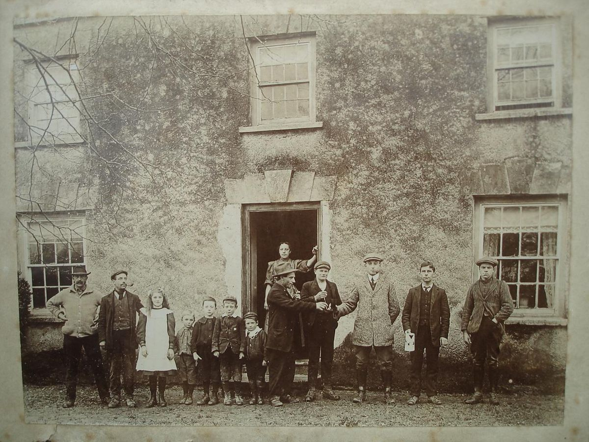 The Household of the Lord of the Manor - Victorian photograph ©The Baron de Newmarch Collection
