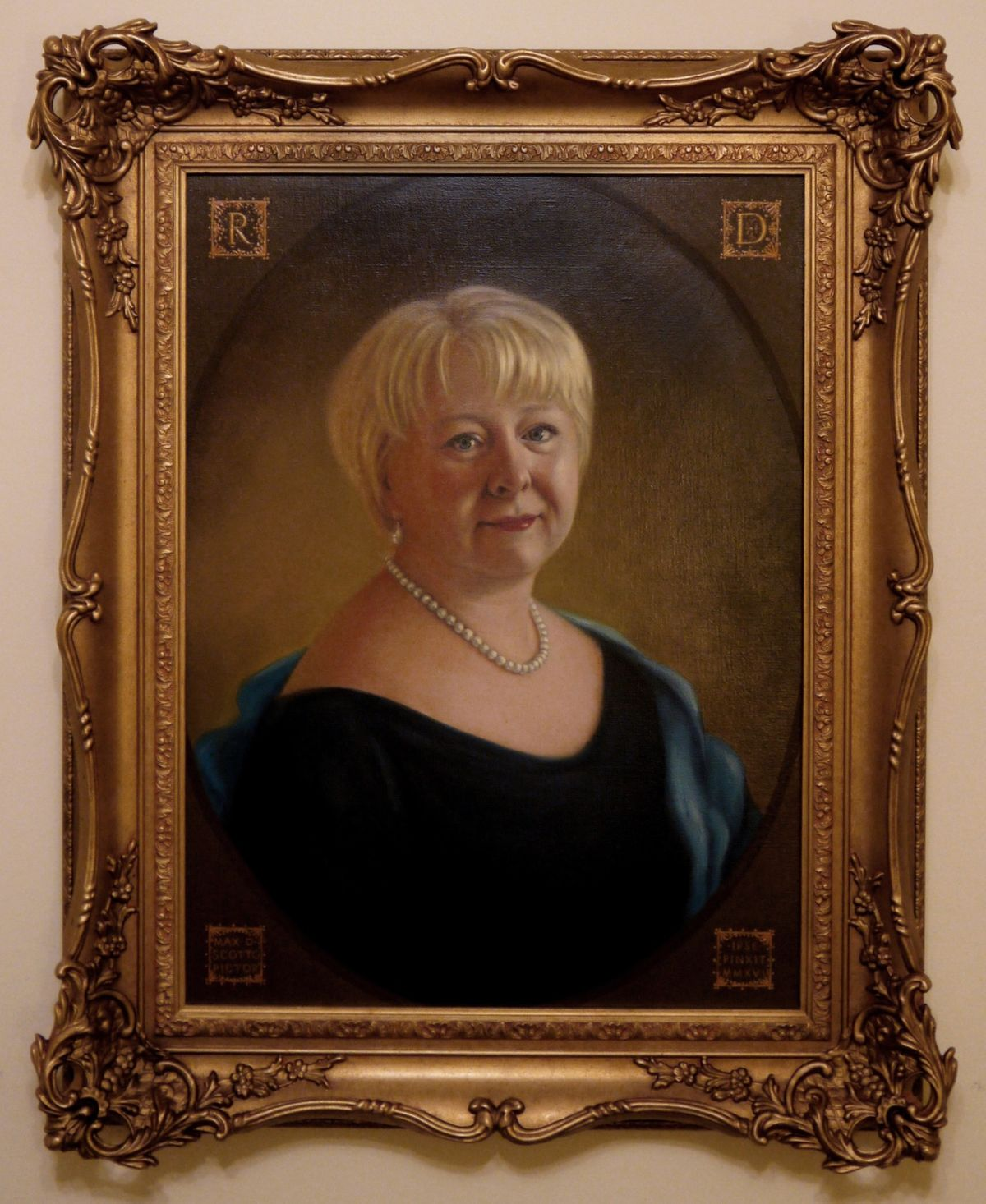 LADY REGINA, 6th BARONESS of NORTH CADBURY by MAX SCOTTO 2016 ©The Baron de Newmarch Collection