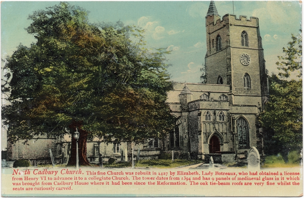 St Michael's Church, North Cadbury c1910